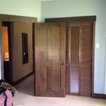 Loved the cozy wooden doors!