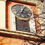 The beautiful clock face