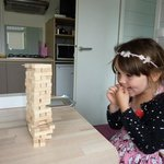 quick game of Jenga in the nicely appointed holiday home