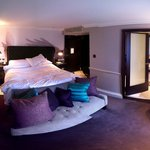 Deluxe room (third smallest... imagine how small the standard room is!) (Stitched photo)