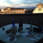 Make shift dinner on the terrace