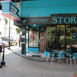 Look at the post in front of the Stork Club, as it shows the history of hurricane survival.