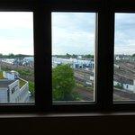 view from room overlooking railway site
