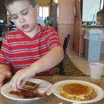 Pancakes and bacon were a hit!