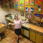 Anela in the kitchen of the Inn!