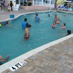 Pool volleyball - two grandkids participated - great time!