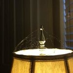 Cobwebs on the lamp