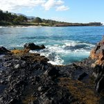 Rocks at the end of Kamaole Beach 2 just past Kamaole Nalu resort.