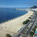 View of Copacabana beach from the room