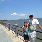 A boy on the waterfront gave my grandaughter a palmetto leaf rose.