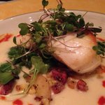 PAN ROASTED ALASKAN HALIBUTfrench fingerling coins, roasted pancetta, corn veloute  $29