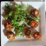 Lobster stuffed mushrooms!