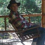 Front porch of the Sullivan Cabin