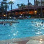 Evening at the pool