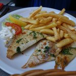Grilled Fish Fillet with french fries