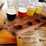 Beer tasting at Holgate Brewery over lunch.