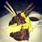 Lamb rack on a bed of mash potatoes