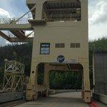 giant crane on the dam