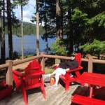 On the deck at Lake of the Woods