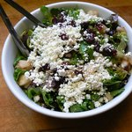 Greens Bowl with pear and goat cheese