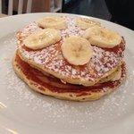 Bacon and banana pancakes