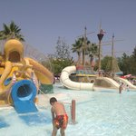 Kids splash area in water park