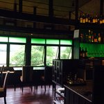 The restaurant with mountain and paddy field view