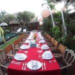 The fabulous dinner set up