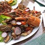 Sea food platter at TIDE restaurant