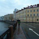 Walking towards hotel