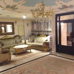 The comfy reception area