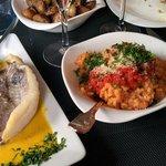 Filet de saint pierre, risotto tomate-gingembre