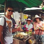 Trying some traditional Thai Street food