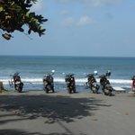 End of the road at Canggu Beach