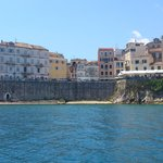 Corfu old town from a speed boat