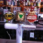 A great selection of beers on tap.