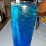 The blue cocktail