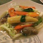 晩ご飯の温野菜2