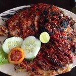Ikan Bakar, the house speciality.