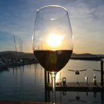 Fine wine overlooking the Abel Point marina