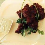 Sticky buffalo wings Cafe Soul at Lush