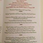 Ecco il menù del ristorante dell'hotel...in tutta sincerità i prezzi ci sembravano alti...