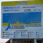 Map of Valras-Plage beach