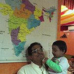 Birendra Mishra (Mr Velu with Hari my son)