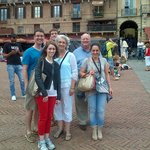 James and his wonderful family during our tour on Music in Siena