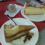 lekkere taart van de conditorei op het plein