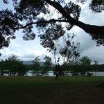 Parken intill sjön Furnas