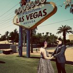 Las Vegas Sign - perfect location and cermony.