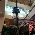 Inside the lobby. Pirate Ship