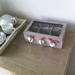 Nice touch with the tea and coffee storage box